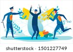 cartoon police officers with... | Shutterstock .eps vector #1501227749
