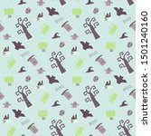 seamless vector pattern with... | Shutterstock .eps vector #1501240160