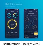 mobile application interface.... | Shutterstock .eps vector #1501247393