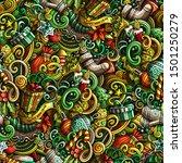 cartoon cute doodles new year... | Shutterstock . vector #1501250279