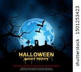 halloween scary night vector...   Shutterstock .eps vector #1501253423