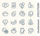 weight loss foods line vector... | Shutterstock .eps vector #1501270280