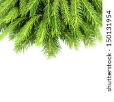 christmas tree branches. | Shutterstock . vector #150131954