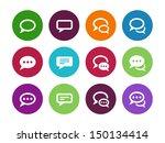 speech bubble circle icons on...
