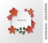 paper art flowers background....   Shutterstock .eps vector #1501345040