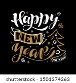 hand sketched happy new year... | Shutterstock .eps vector #1501374263