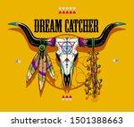 a bull skull illustration for... | Shutterstock .eps vector #1501388663