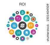 roi infographic circle concept. ...