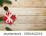 christmas background with red...   Shutterstock . vector #1501412213