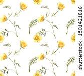 Buttercup Watercolor Pattern....