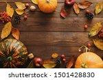 Autumn Composition. Frame Made...