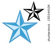 nautical star silhouette vector