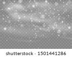 falling snow overlay background.... | Shutterstock .eps vector #1501441286
