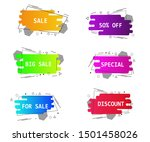 set of geometric flat banners.... | Shutterstock .eps vector #1501458026