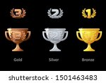 trophy cup  award  vector icons....