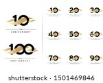 anniversary set. 10  20  30  40 ...   Shutterstock .eps vector #1501469846
