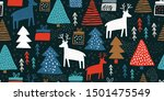 childish seamless pattern with... | Shutterstock .eps vector #1501475549