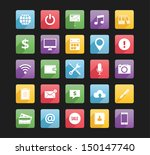 set of web icons 2 bitmap copy | Shutterstock . vector #150147740