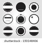 retro vintage badges and labels ...