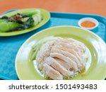 A Set Of Hainanese Chicken On...
