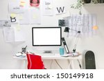 modern creative workspace with... | Shutterstock . vector #150149918