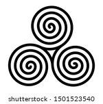 breton and celtic original... | Shutterstock . vector #1501523540