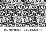 spiral celtic triskels seamless ... | Shutterstock . vector #1501523549