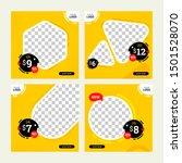 set of sale banner price social ... | Shutterstock .eps vector #1501528070