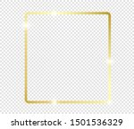 gold shiny glowing frame with... | Shutterstock .eps vector #1501536329