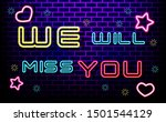 farewell party template.we will ... | Shutterstock .eps vector #1501544129