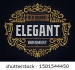 victorian vintage ornament... | Shutterstock .eps vector #1501544450