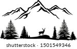 mountains vector file. forest... | Shutterstock .eps vector #1501549346