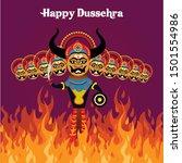 hindu festival celebrated at... | Shutterstock .eps vector #1501554986