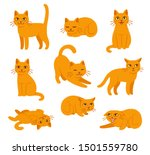 cartoon cat set with different... | Shutterstock .eps vector #1501559780