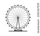ferris wheel vector icon.... | Shutterstock .eps vector #1501567529