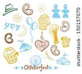 traditional oktoberfest symbols ... | Shutterstock .eps vector #150157070
