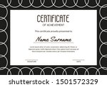 simple minimalism certificate... | Shutterstock .eps vector #1501572329