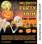 halloween promotion banner with ... | Shutterstock .eps vector #1501584149