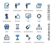 business icons set 2   blue... | Shutterstock .eps vector #150158540