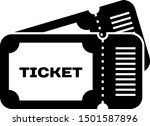 black ticket icon isolated on... | Shutterstock .eps vector #1501587896