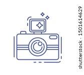 photo camera line icon. photo...