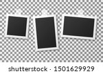 set of vintage photo frames... | Shutterstock .eps vector #1501629929