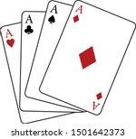 lucky ace  casino winner clip... | Shutterstock .eps vector #1501642373