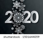 2020 happy new year  creative... | Shutterstock .eps vector #1501644059