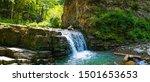 Manyavsky Waterfall   A...