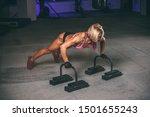 strong muscular women doing... | Shutterstock . vector #1501655243