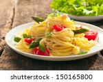 Low Angle View Of A Plate Of...