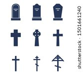 vector set of cemetery icons.... | Shutterstock .eps vector #1501661240