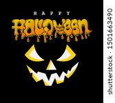 happy halloween background... | Shutterstock .eps vector #1501663490