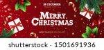 merry christmas banner  xmas... | Shutterstock .eps vector #1501691936